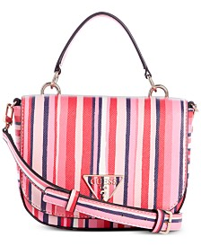 GUESS Carys Striped Mini Crossbody