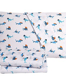 Gangsta Shark 3PC Twin Sheet Set