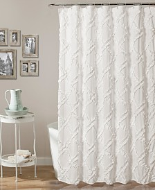 "Ruffle Diamond 72"" x 72"" Shower Curtain"