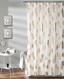 """Pineapple Toss 72"""" x 72"""" Shower Curtain"""