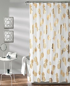 "Pineapple Toss 72"" x 72"" Shower Curtain"