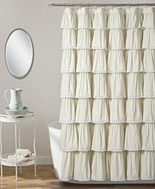 "Lace Ruffle 72"" x 72"" Shower Curtain"