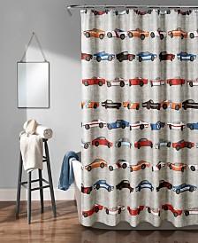 """Race Cars 72"""" x 72"""" Shower Curtain"""