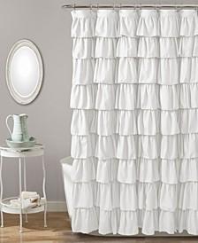 """Ruffle 72"""" x 72"""" Shower Curtain"""
