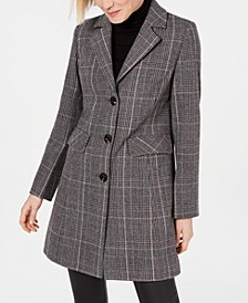 INC Plaid Walker Coat, Created for Macy's