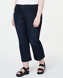 Eileen Fisher Plus Size Organic Pull-On Jeans
