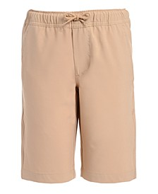 Big Boys Husky Lowell Stretch Khaki Jogger Shorts