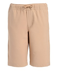 Nautica Big Boys Husky Lowell Stretch Moisture-Wicking Khaki Jogger Shorts