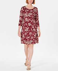 Sport Printed 3/4-Sleeve Shift Dress, Created for Macy's