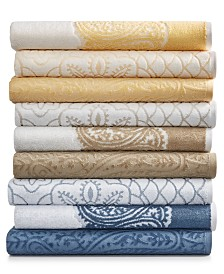 Martex Paisley and Medallion Mix and Match Cotton Bath Towel Collection, Created for Macy's