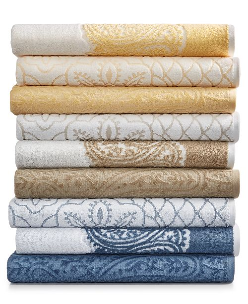 Martex  CLOSEOUT! Paisley and Medallion Mix and Match Cotton Bath Towel Collection, Created for Macy's