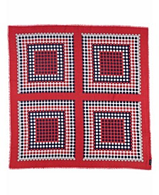 Dotted Blocks Square Scarf