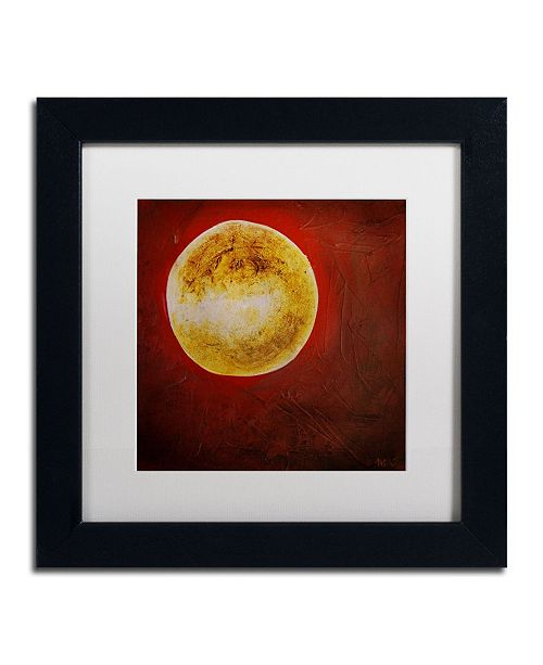 "Trademark Global Nicole Dietz 'Moon on Red' Matted Framed Art - 11"" x 11"""