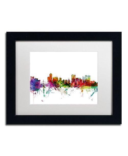 "Trademark Global Michael Tompsett 'Winnipeg Canada Skyline' Matted Framed Art - 11"" x 14"""
