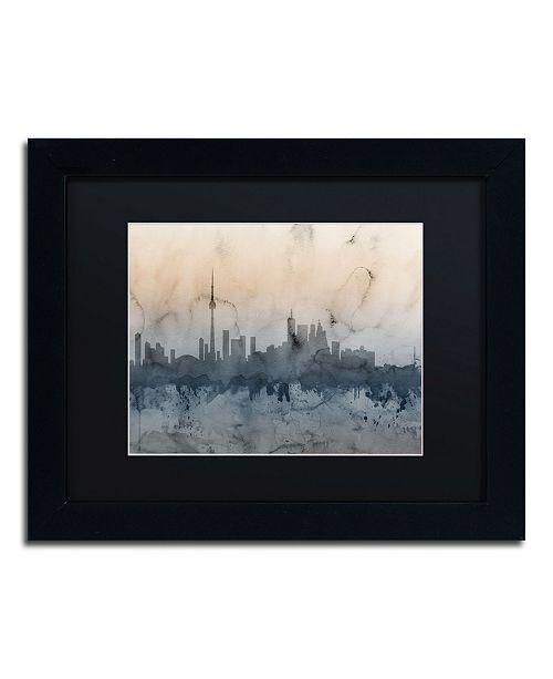 """Trademark Global Michael Tompsett 'Toronto Canada Skyline V' Matted Framed Art - 11"""" x 14"""""""