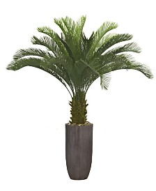 "Laura Ashley 62.2"" Palm Tree Artificial Faux decor in Resin Planter"