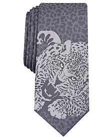 INC Men's Skinny Tonal Panther Tie, Created for Macy's