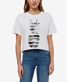 O'Neill Juniors' Cotton Pineapple Haze Cropped T-Shirt