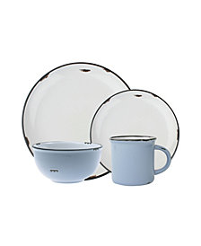 Canvas Home Tinware 16 Piece Place Setting