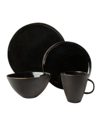 Abbesses Noir 16-PC Dinnerware Set, Service for 4