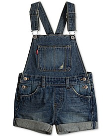 Toddler Girls Cotton Denim Shortall