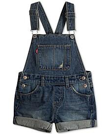 Toddler Girls Cotton Denim Shortall