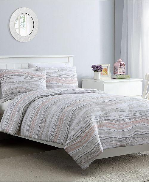 VCNY Home Marble 3 Piece Full/Queen Comforter Set