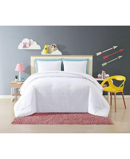 My World Rainbow Clipped Dot 2 Piece Twin XL Comforter Set