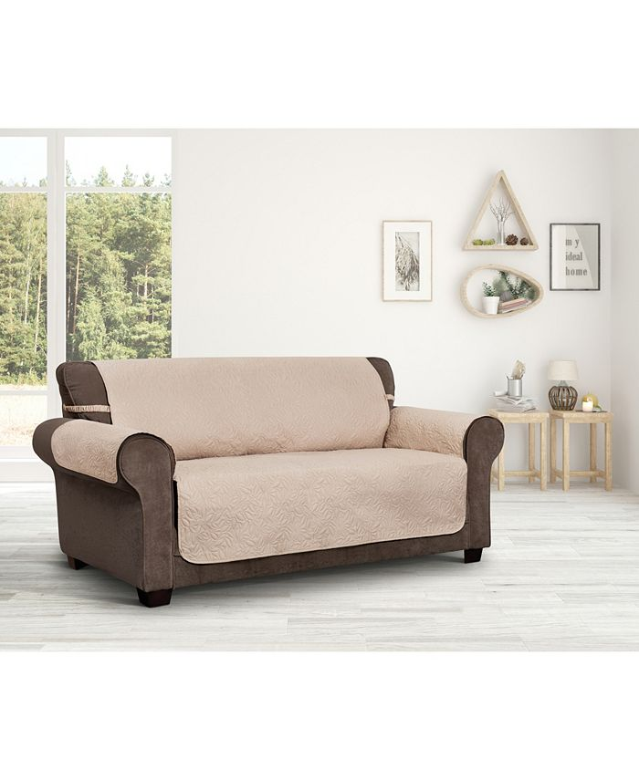 P/Kaufmann Home - Innovative Textile Solutions Belmont Leaf Secure Fit Sofa Furniture Cover Slipcover