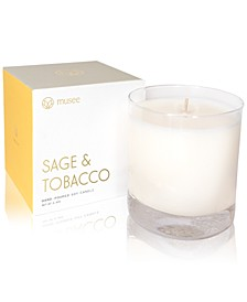 Sage & Tobacco Hand-Poured Soy Candle, 8.8-oz.