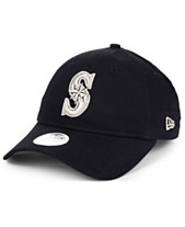 low cost d9d4a 48318 New Era Women s Seattle Mariners Foil Script Hook 9TWENTY Strapback Cap