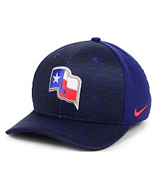 Nike Texas Rangers Velocity Swooshflex Stretch Fitted Cap