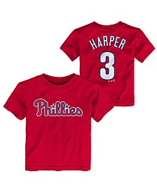 Majestic Toddlers Bryce Harper Philadelphia Phillies Official Player T-Shirt