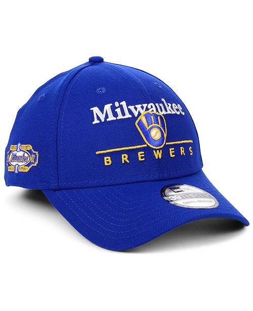 detailed look 51be0 23732 ... New Era Milwaukee Brewers Cooperstown Collection 39THIRTY Cap ...