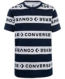 Big Boys Wordmark Stripe Logo T-Shirt