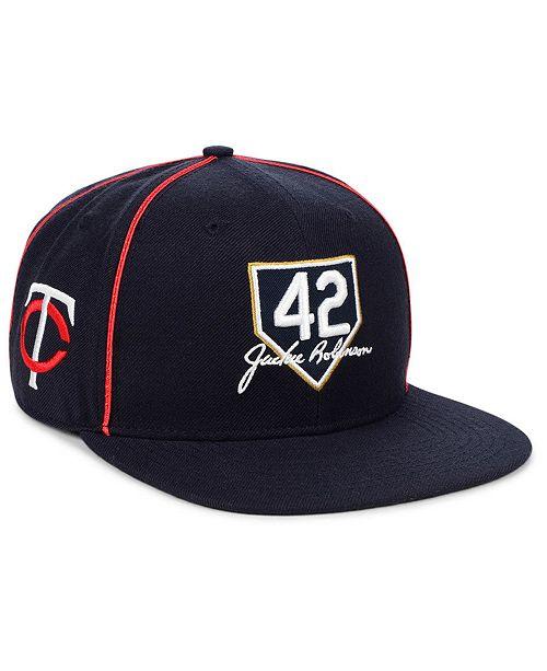 newest 3c0cb 7f72c ...  47 Brand Minnesota Twins Jackie Robinson 42 Team Snapback Cap    ...