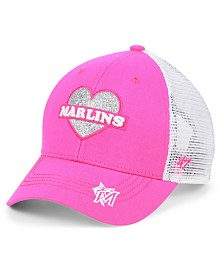 '47 Brand Girls' Miami Marlins Sweetheart Meshback MVP Cap