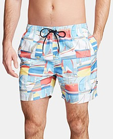 Men's Big & Tall Printed Swim Trunks