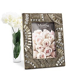 "Martha Stewart Collection Silver Beaded 5"" x 7"" Frame, Created For Macy's"