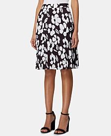 Tahari ASL Floral-Print Pleated Skirt