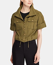 Lauren Ralph Lauren Drawcord Canvas Jacket