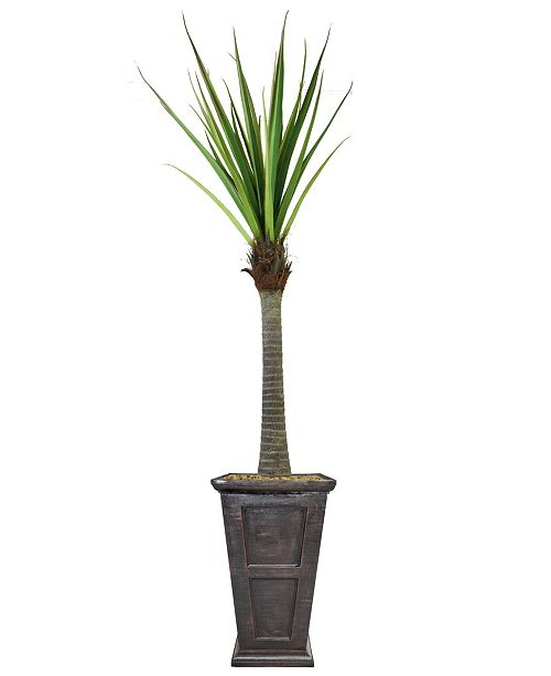 """Laura Ashley 91"""" Real Touch Agave in Fiberstone Planter"""