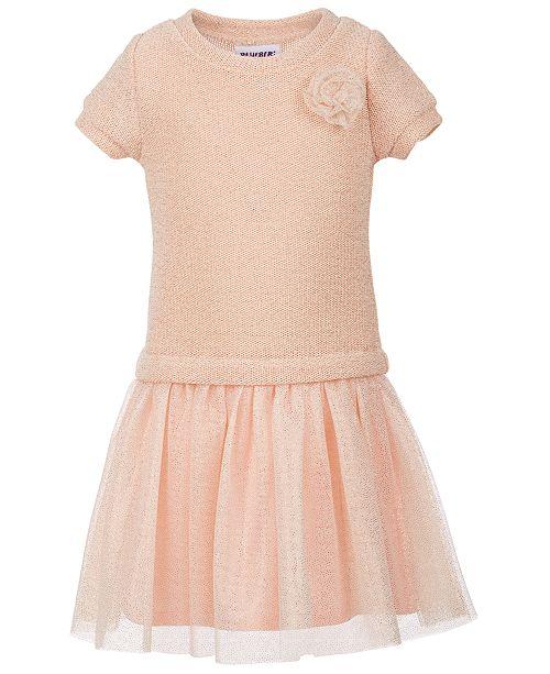 Blueberi Boulevard Little Girls Sweater-Knit Glitter Dress