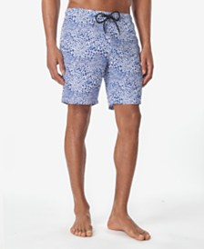 Tallia Men's Leopard Print Swim Trunks