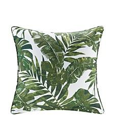 "Everett 20"" x 20"" Printed Palm 3M Scotch Gard Outdoor Square Pillow"