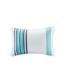 "Newport 14"" x 20"" Printed Stripe 3M Scotch Gard Outdoor Oblong Pillow"