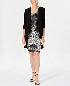 Petite 2-Pc. Necklace Dress & Jacket