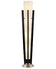Kathy Ireland Tall Uplight Wood & Metal