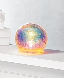 Dreamland Glass Iridescent Ball with LED Light, Created for Macy's