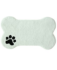 "Dog Bone Bath Rug 19""x32"""